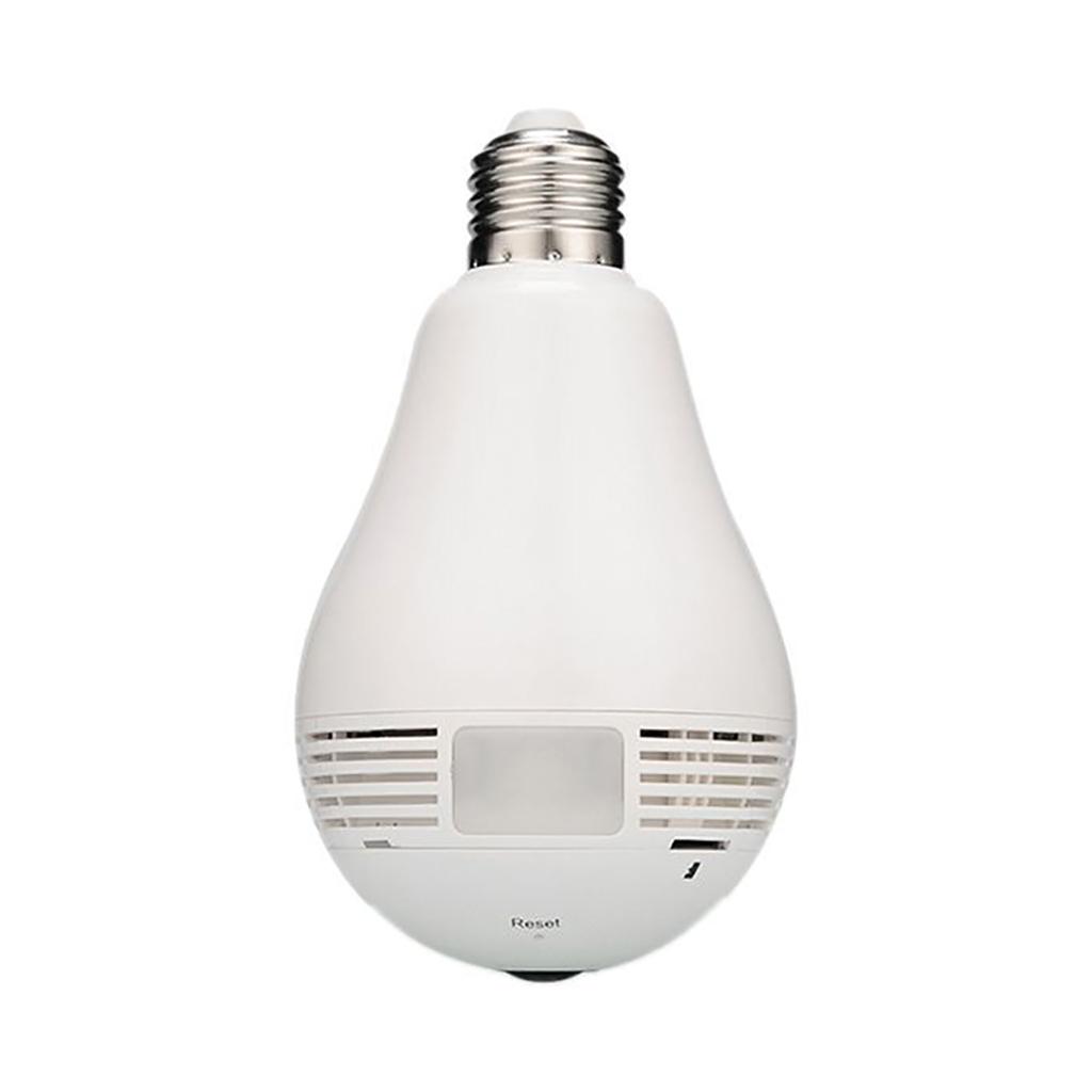 Full Hd Wi-fi Light Bulb Hidden Ip Camera 360 Degree
