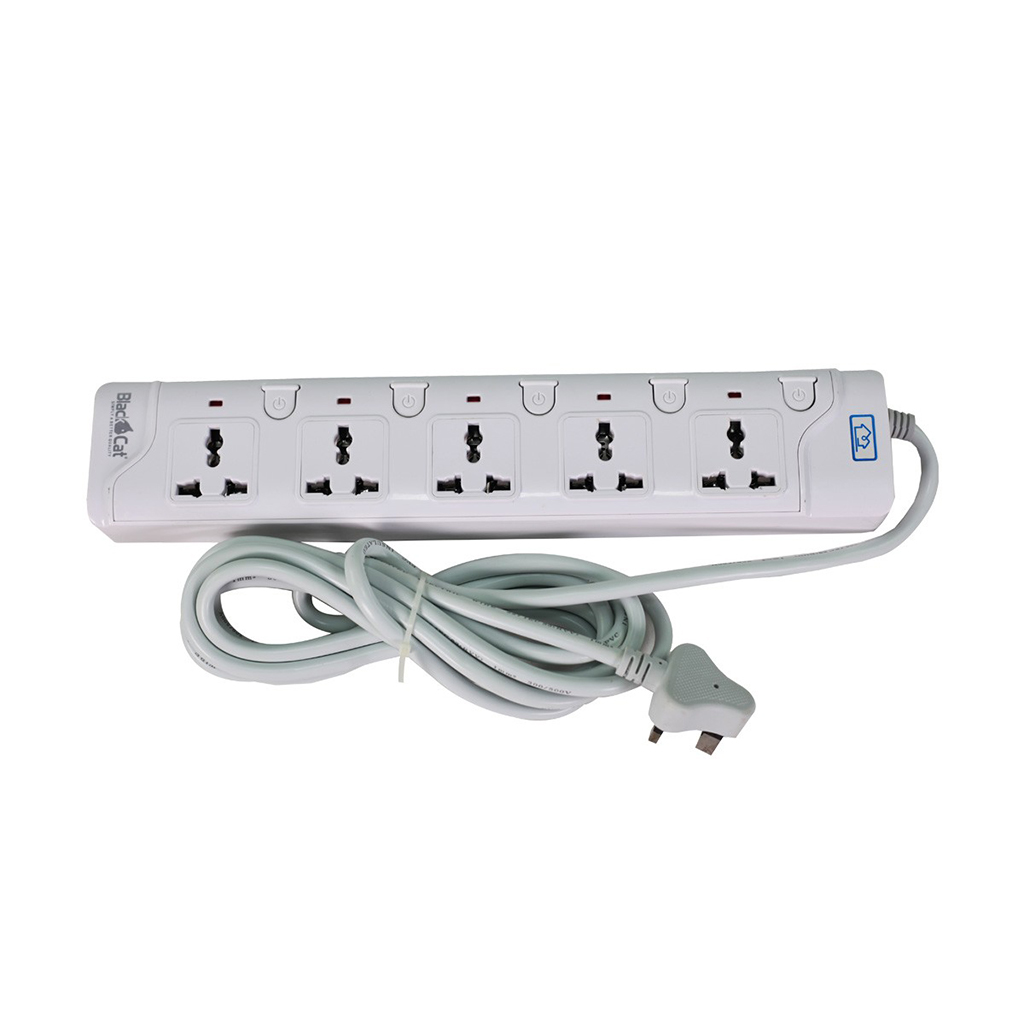 Blackcat 5port Power Strip