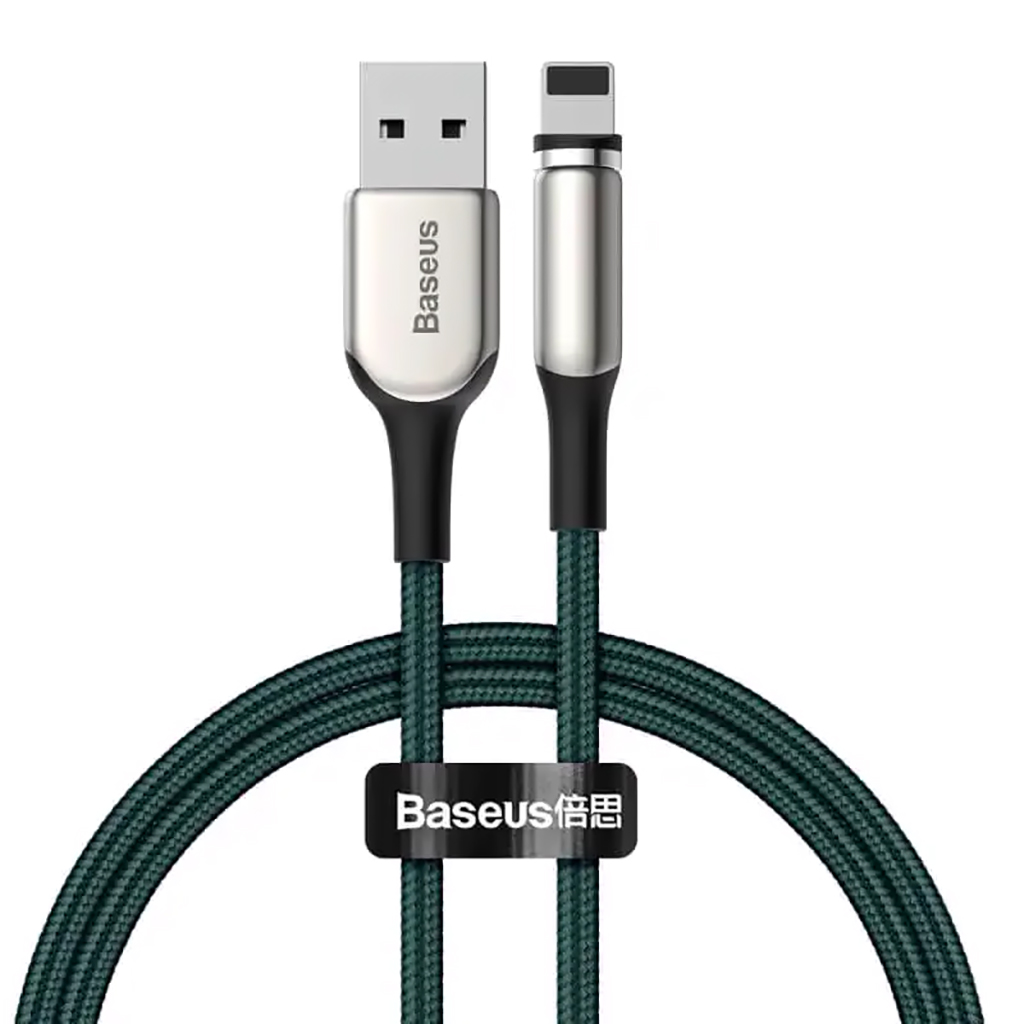 Baseus Zinc Magnetic Charging Cable Usb For Iphone 2a 1m (green)