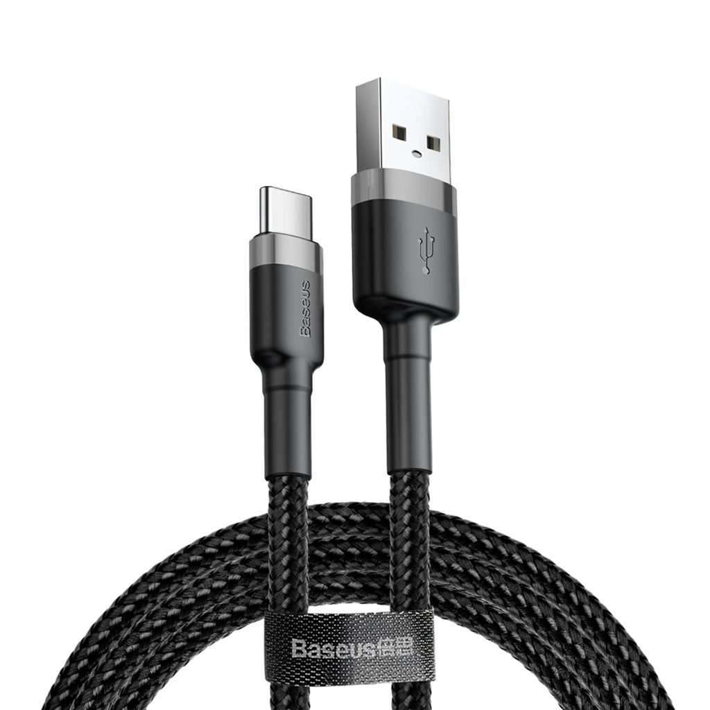 Baseus Cafule Cable Usb For Type-c 3a 1m (grey Black)