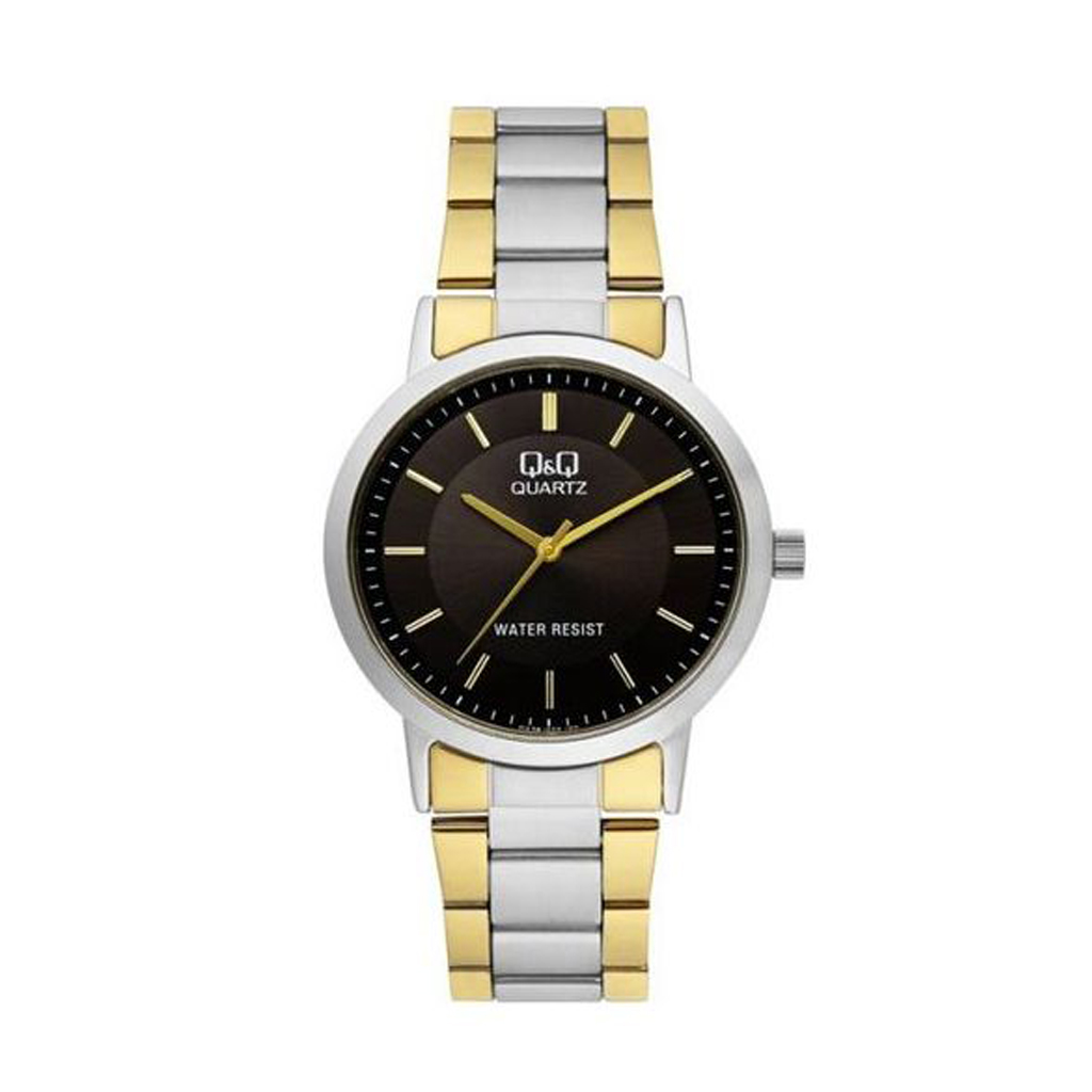 Q&q Qa38j402y Two Tone Analog Watch For Men