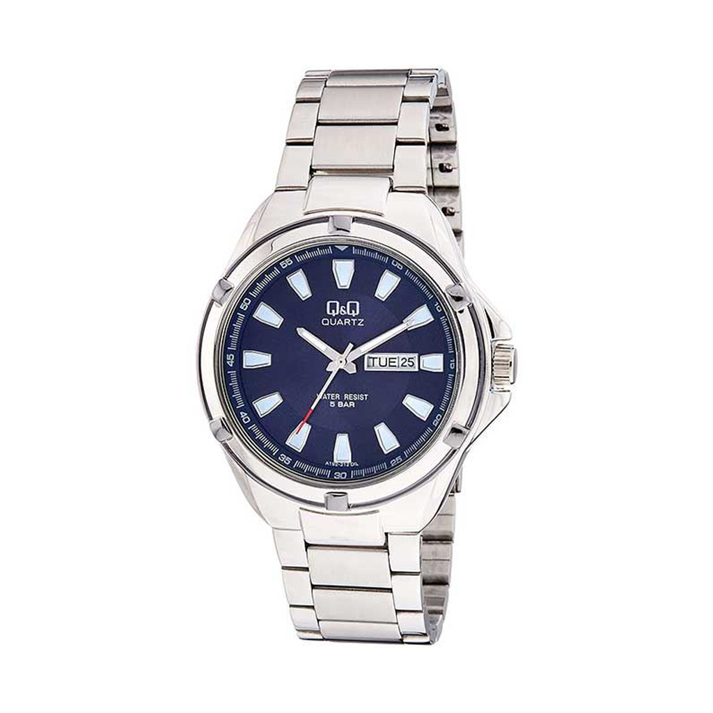 Q&q A192-212y Analog Day Date Wrist Watch For Men