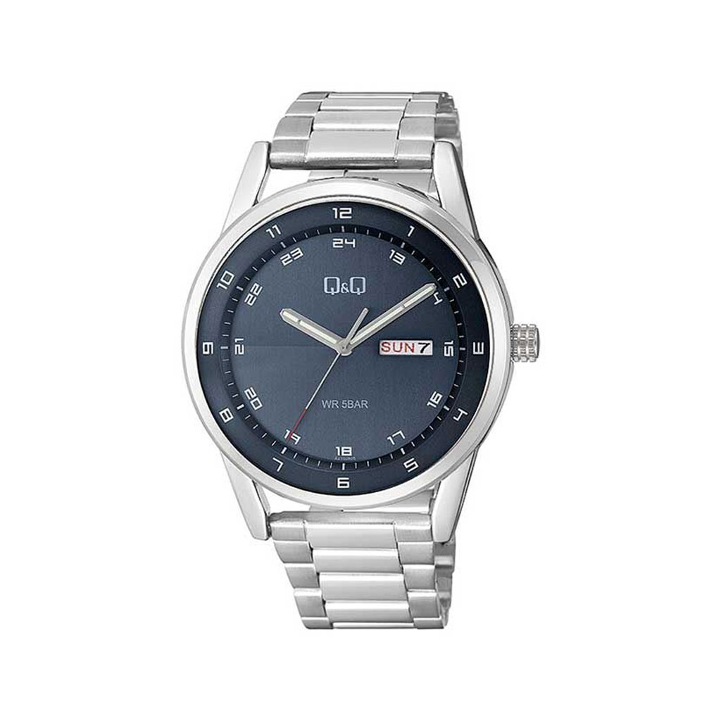 Q&q A210j215y Analog Day Date Wrist Watch For Men