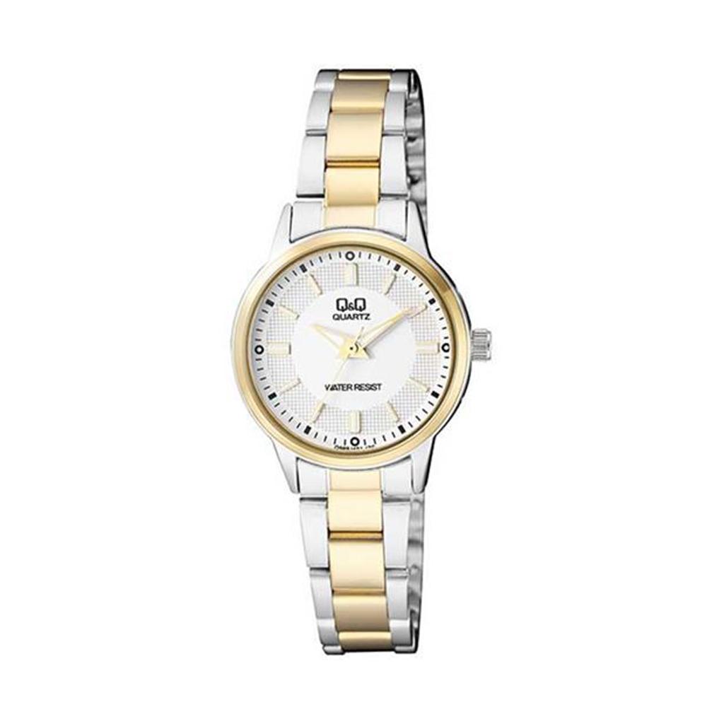 Q&q Q969j401y Analog Two Tone Watch For Women
