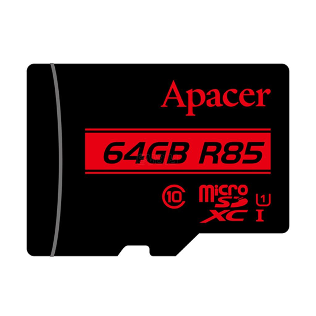 Apacer Microsdxc Uhs-i U1 Class10 (r85 Mb/s) 64gb