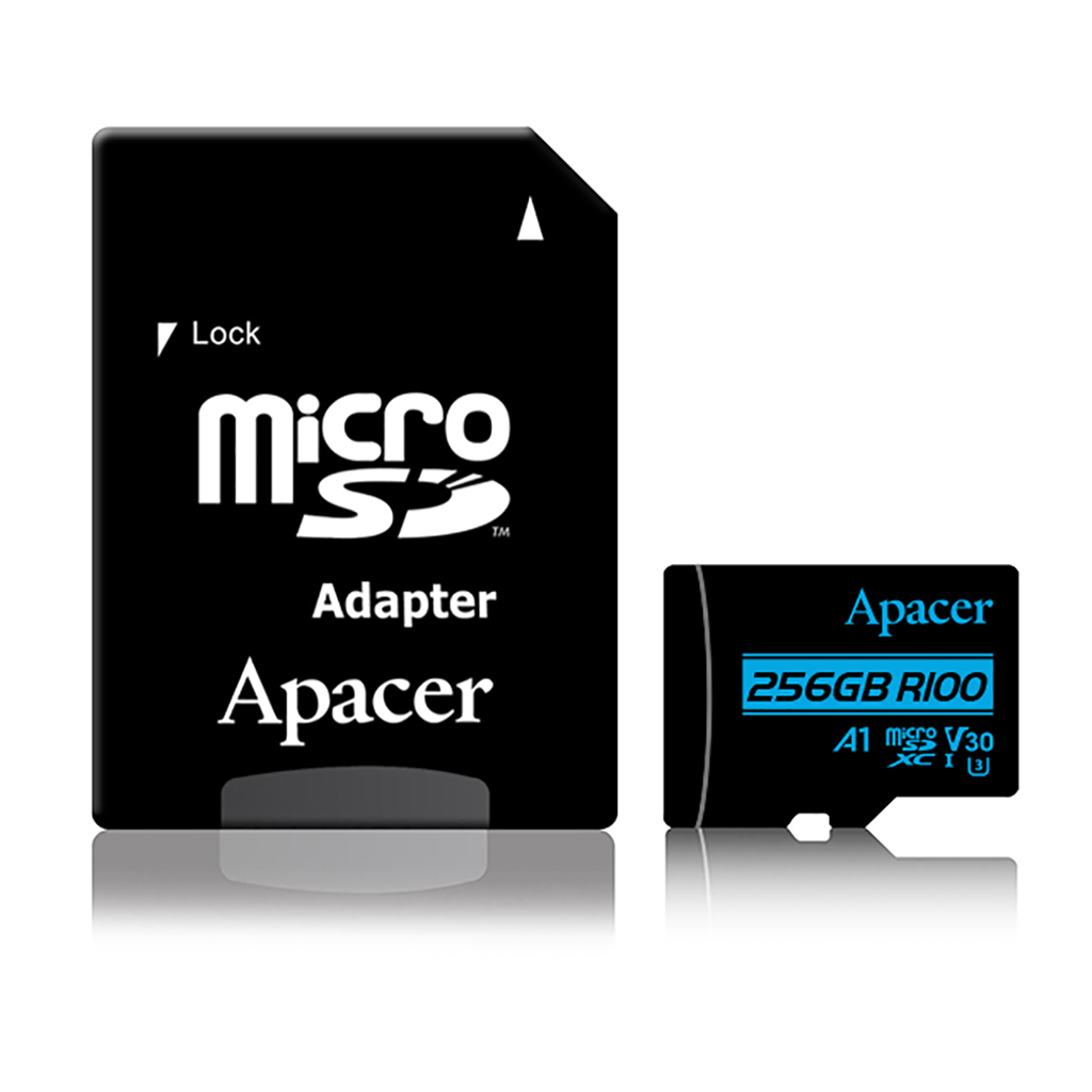 Apacer Microsdxc Uhs-i U3 V30 R100 A1 256gb With Adapter