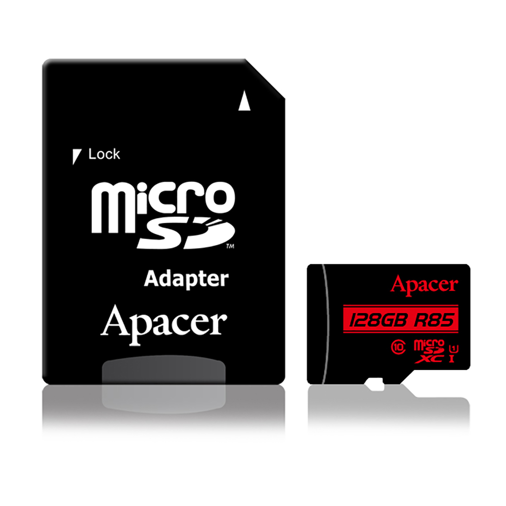 Apacer Microsdxc Uhs-i U1 Class10 (r85 Mb/s) 128gb With Adapter