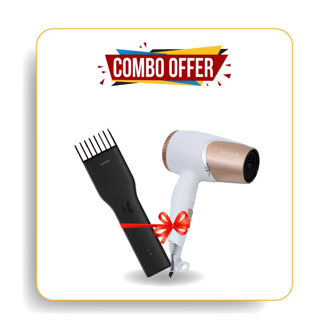 Xiaomi Enchen Boost Trimmer & Kemei Km-6832 Electric Hair Dryer
