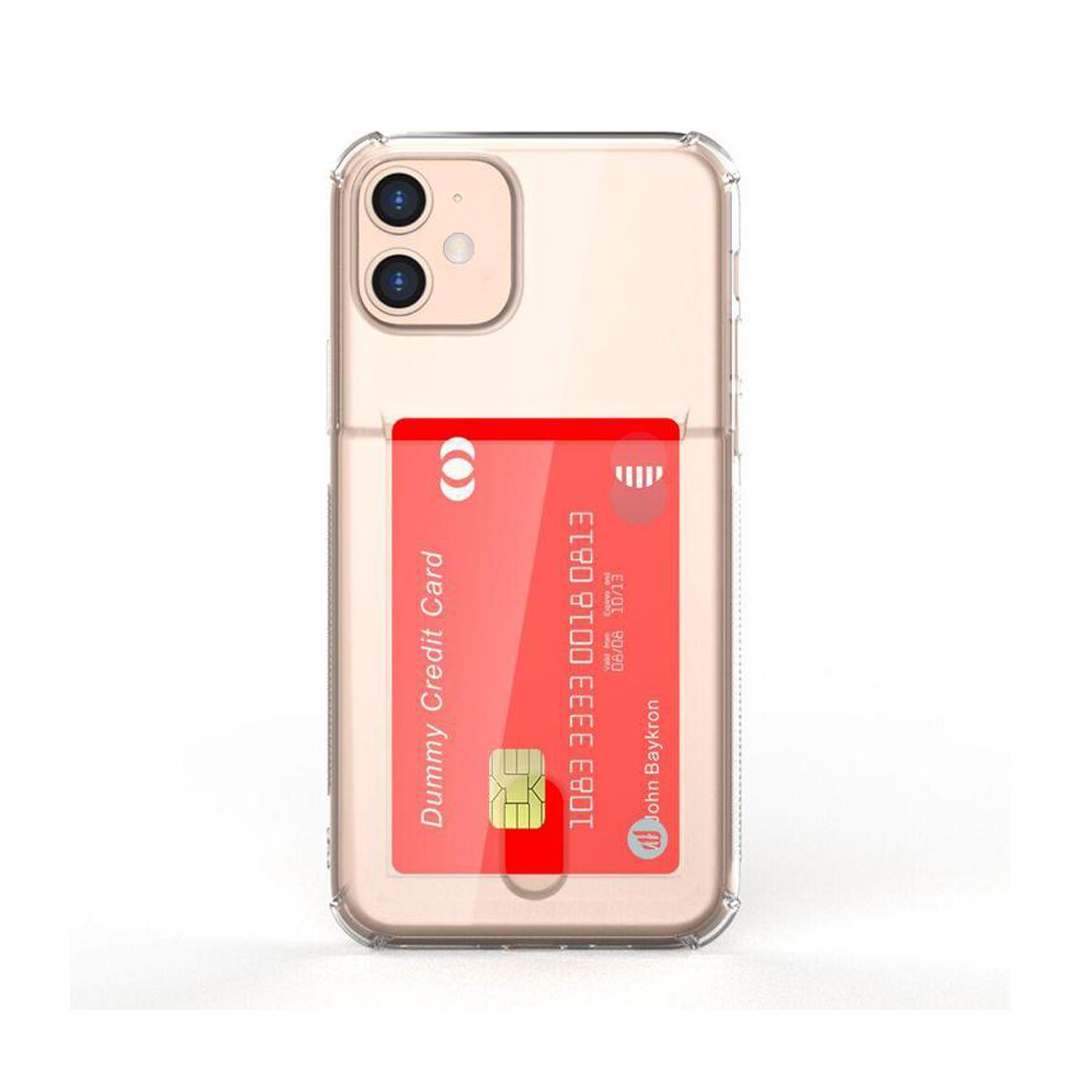 Baykron Iphone 11 Clear Mobile Case With Credit Card Pocket