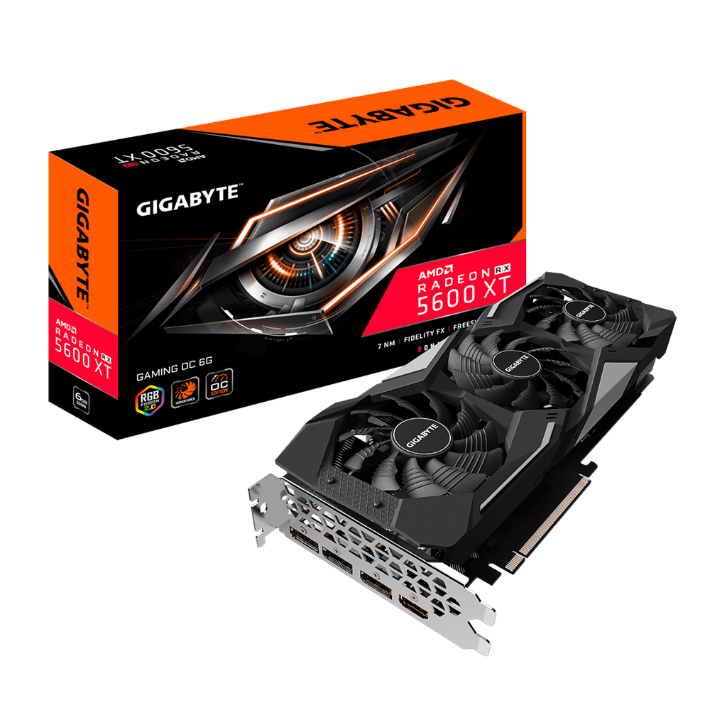 Gigabyte Radeon Rx 5600 Xt Gaming Oc 6g Graphics Card