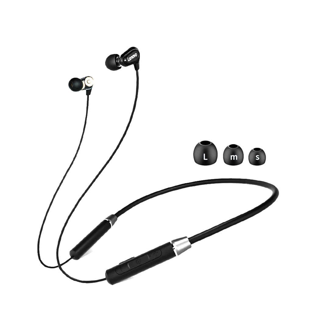 Lenovo He08 Dual Dynamic Bluetooth Neckband With Mic