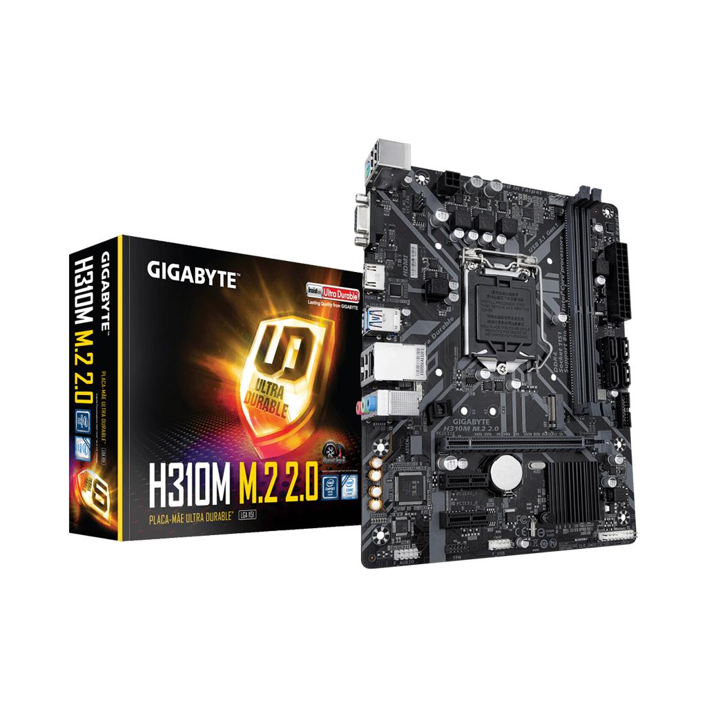 Gigabyte H310m M.2 2.0 9th & 8th Gen Intel Chipset
