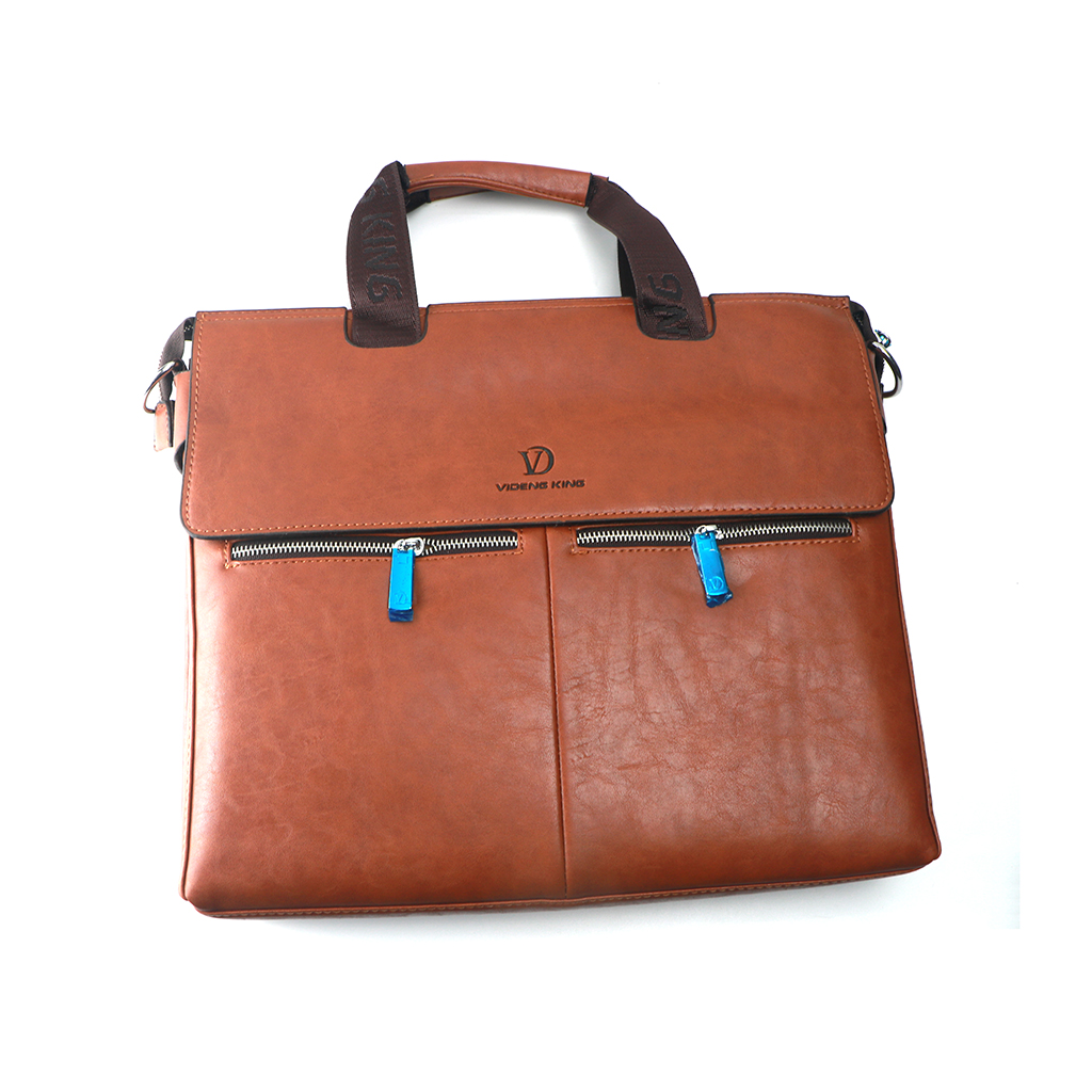 Videng King Faux Leather Office Bag