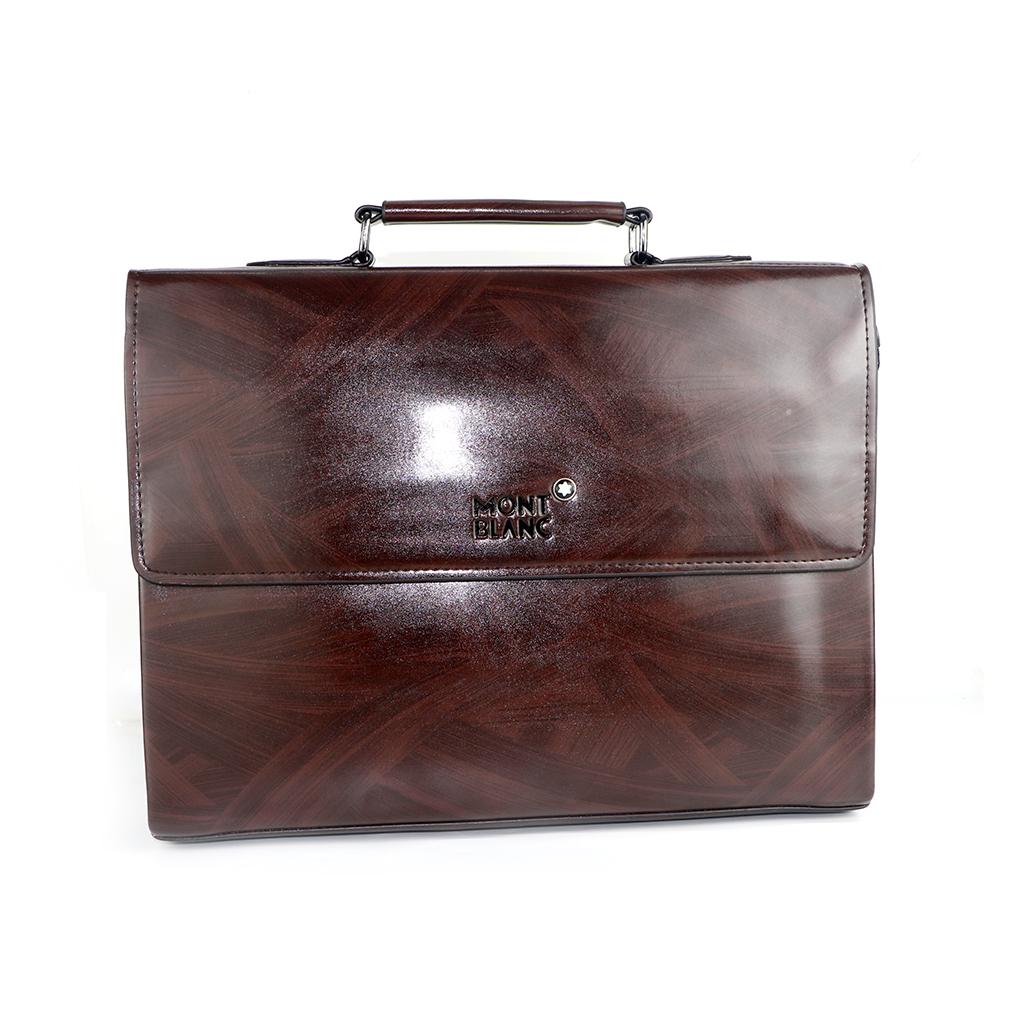 Mont Blanc Faux Leather Office Bag