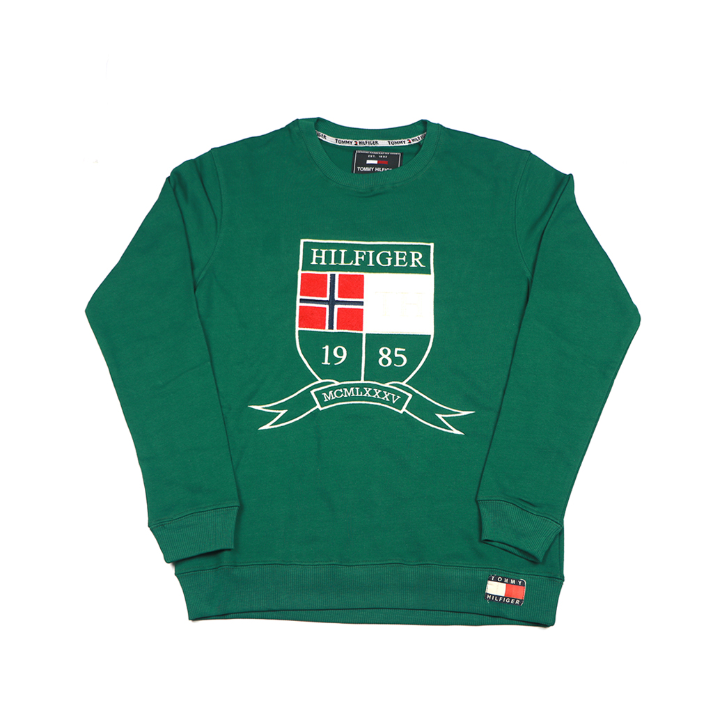 Men's Winter Export Quality Crewneck Sweatshirts (green)