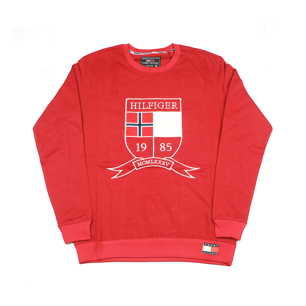Men's Winter Export Quality Crewneck Sweatshirts (red)
