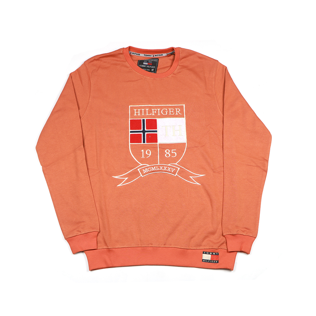 Men's Winter Export Quality Crewneck Sweatshirts (orange)