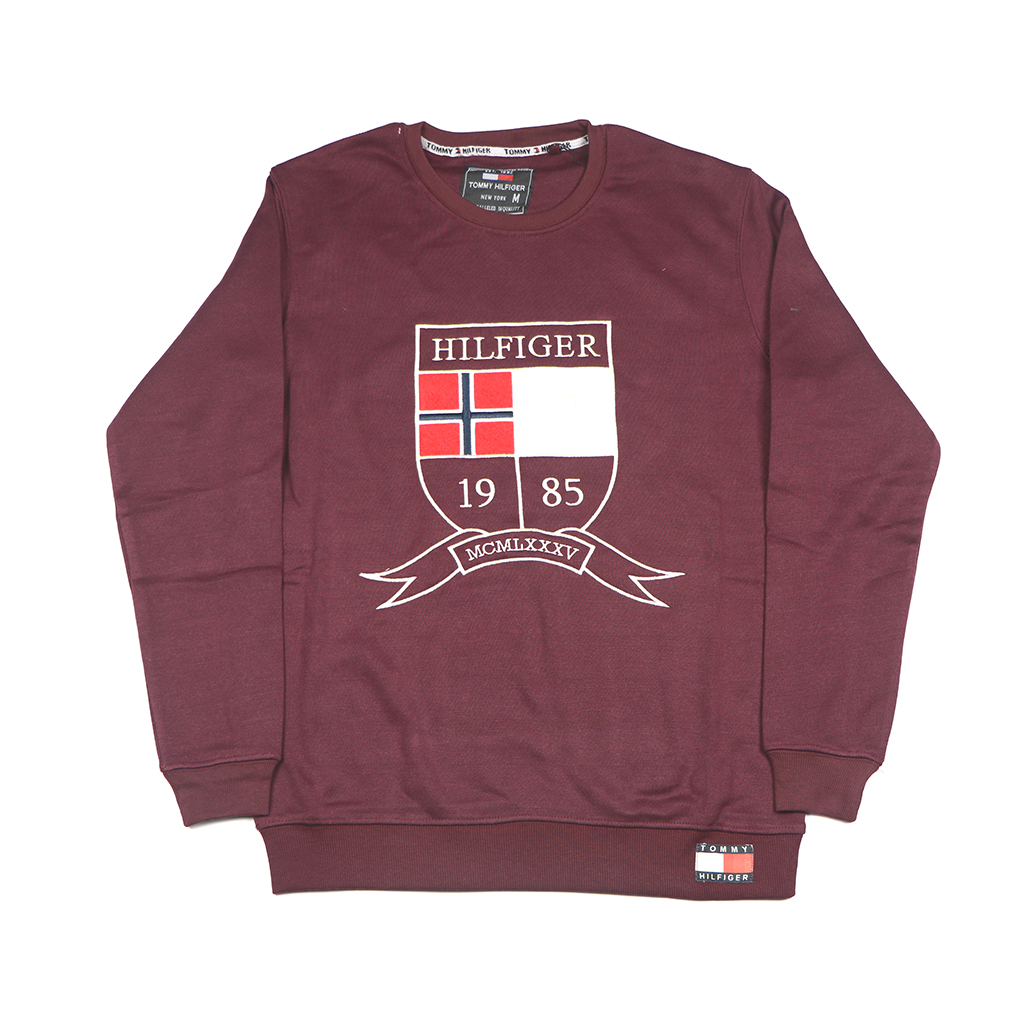 Men's Winter Export Quality Crewneck Sweatshirts (maroon)