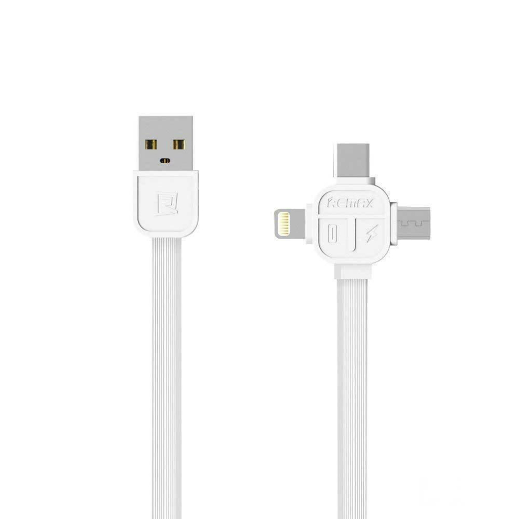 Remax Rc-066th Lesu 3-in-1 Data Cable For Iphone/micro/type-c