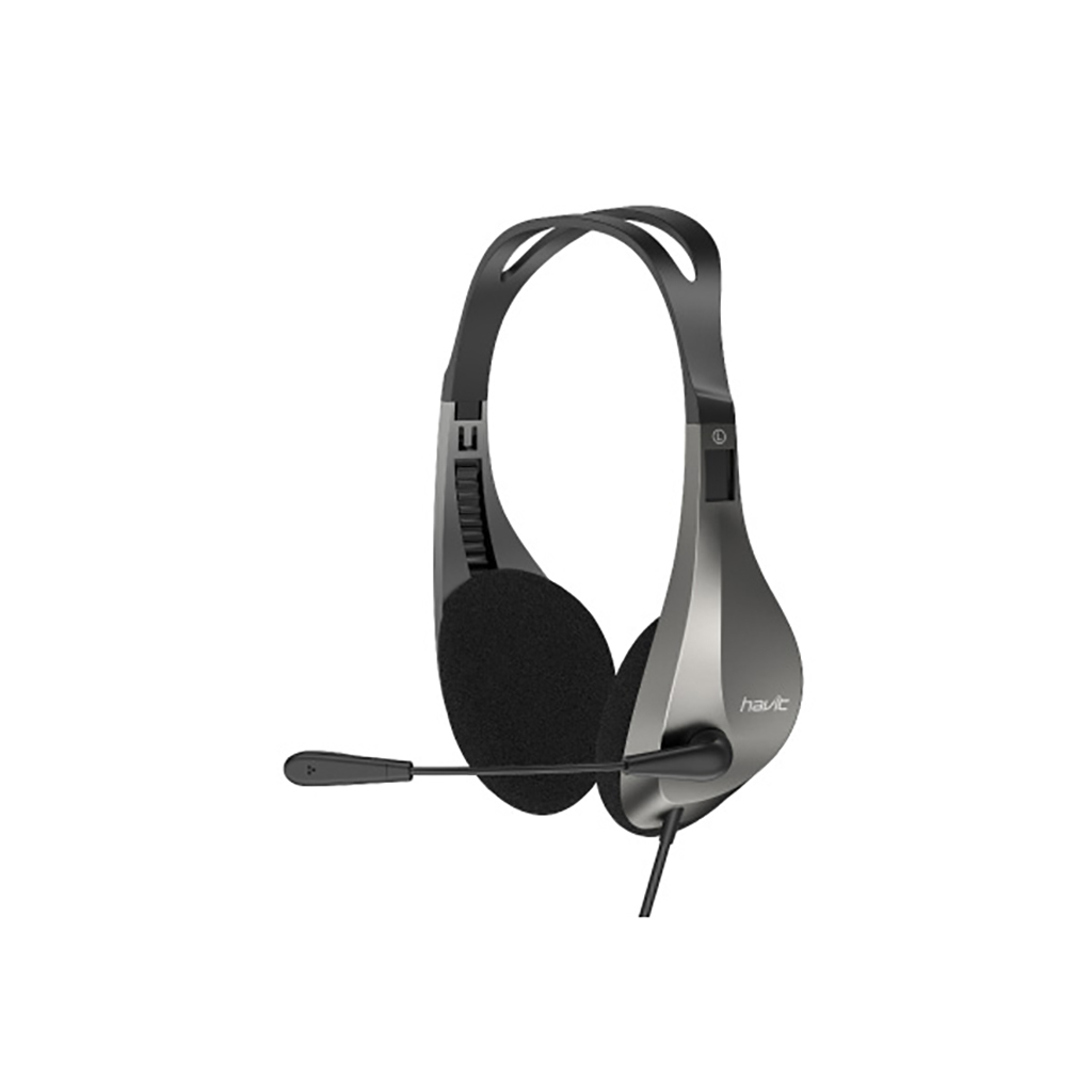 Havit H205d 3.5mm Double Plug Stereo Headset With Mic