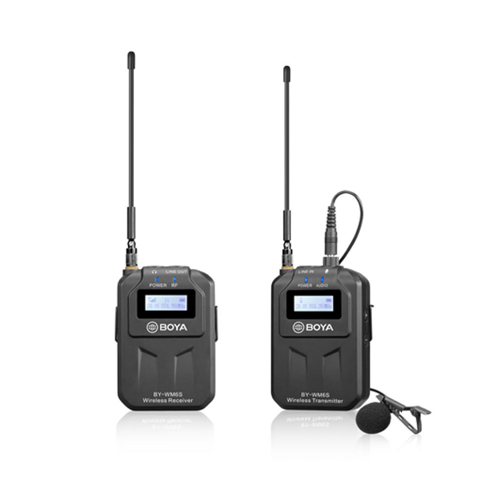 Boya By-wm6s Uhf Wireless Microphone System