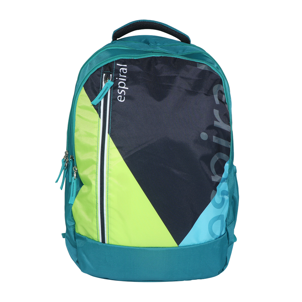 Espiral Nylon Fabric And Super Light Weight Water Resistant & Washabl School Collage & Traveling Backpack Bag (green)