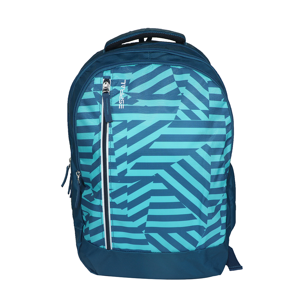 Espiral Nylon Fabric And Super Light Weight Water Resistant & Washabl School Collage & Traveling Backpack Bag (blue)