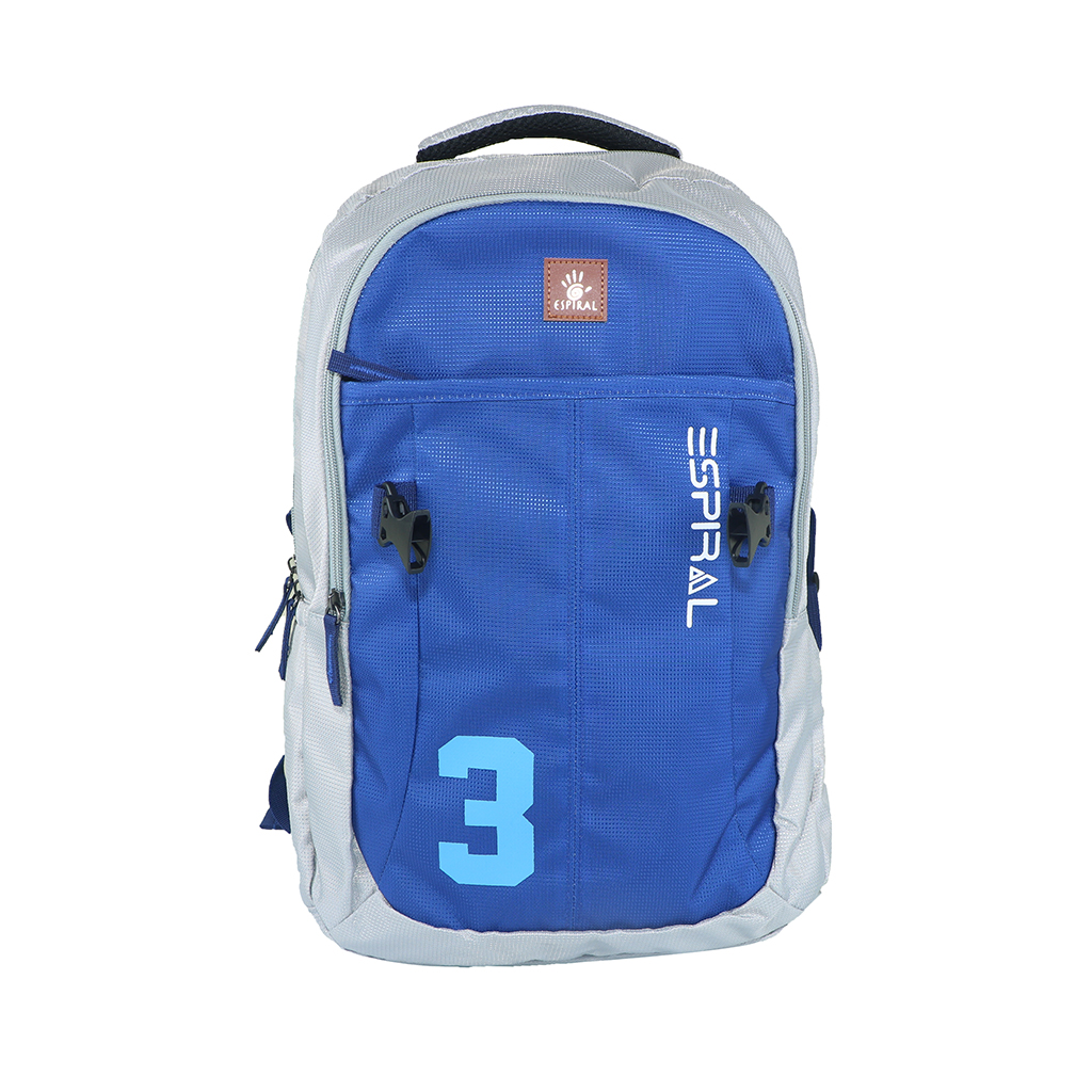 Espiral 3series Nylon Fabric Super Light Weight Traveling School College Backpack (blue)