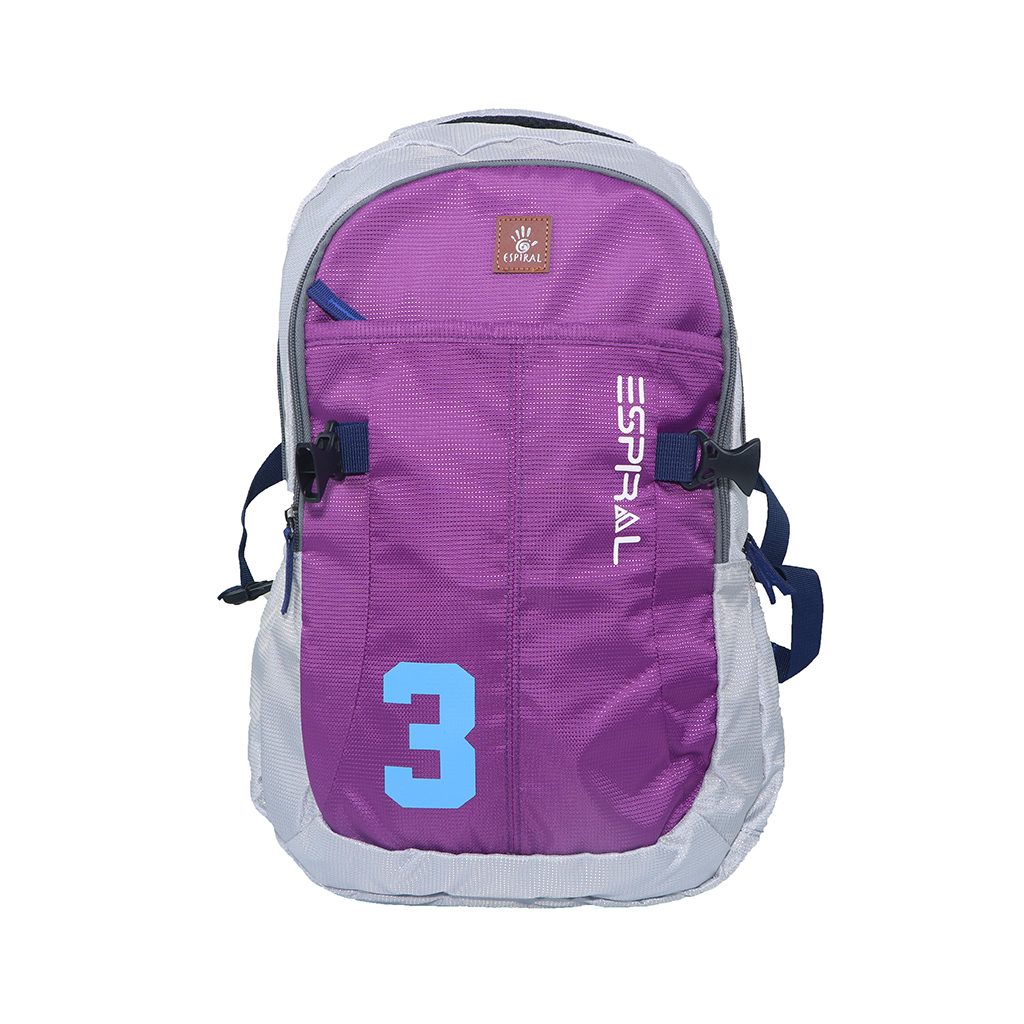 Espiral 3series Nylon Fabric Super Light Weight Traveling School College Backpack (purple)