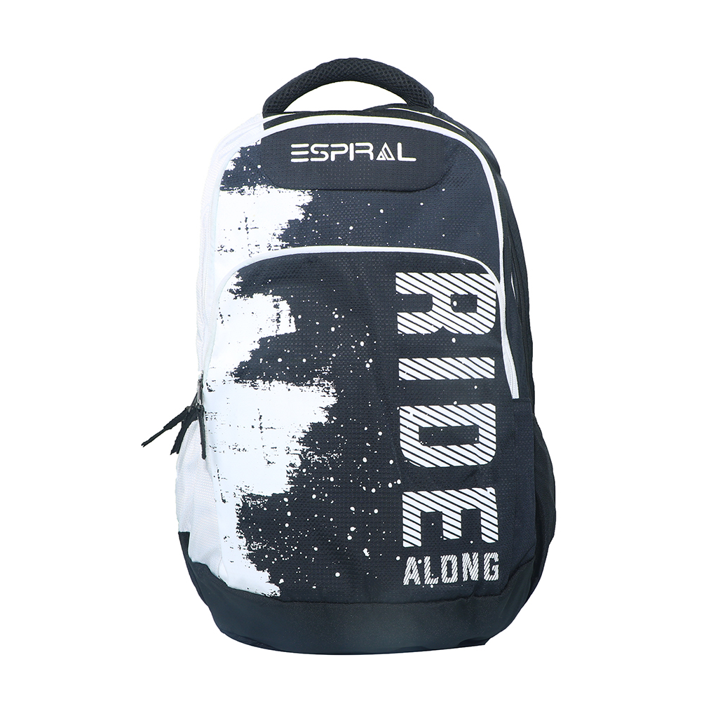 Espiral Ride Along Nylon Fabric Super Light Weight Traveling School College Backpack (white)
