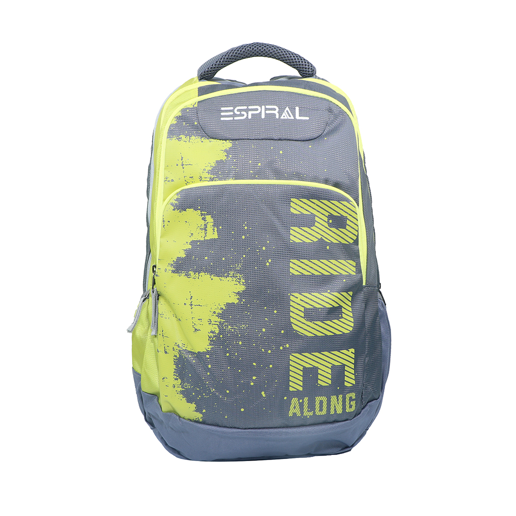Espiral Ride Along Nylon Fabric Super Light Weight Traveling School College Backpack (yellow)