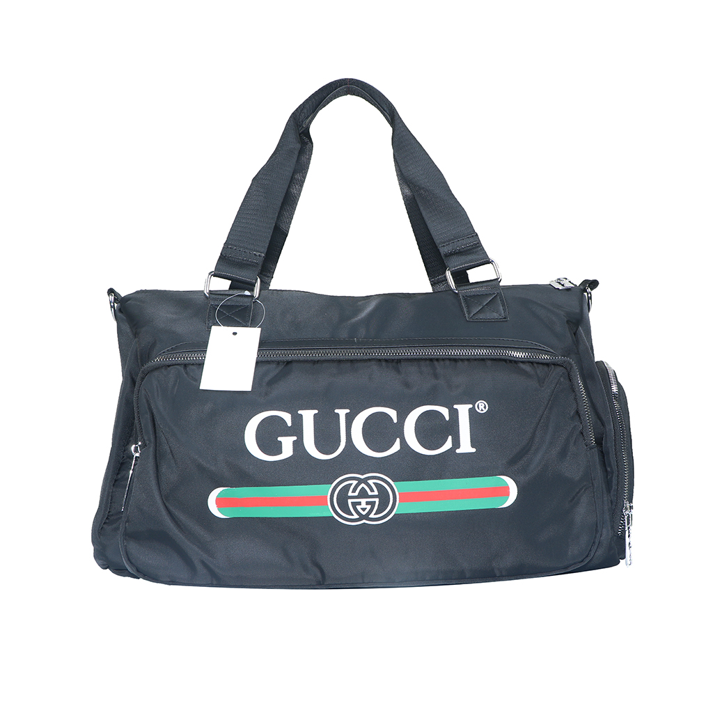 Gucci Leather Travel And Duffle Sports Bag