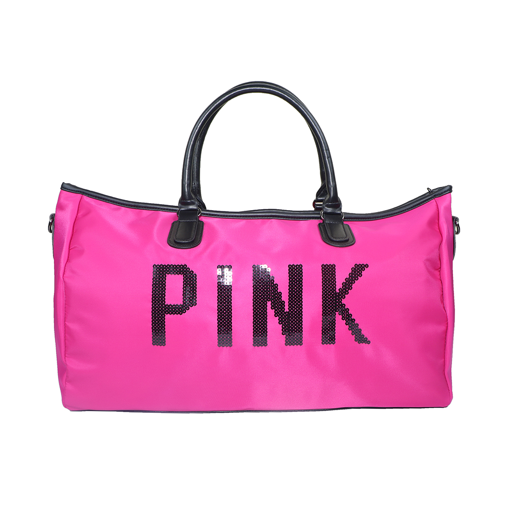 Pink Shoulder Travel And Duffle Large Sports Bag