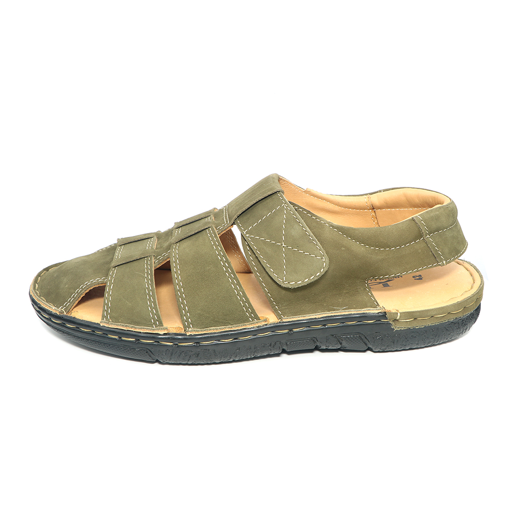 Pu Upper Lining Fiber Belt Sandal For Men (uf-37)
