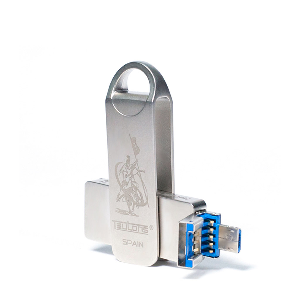 Teutons Metallic Knight 128gb Usb 3.1 Gen-1 Flash Drive