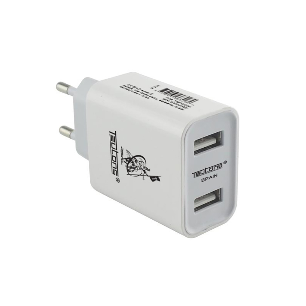 Teutons Wall Adapter With Type C Data Cable Quick Charge 3.0 - White