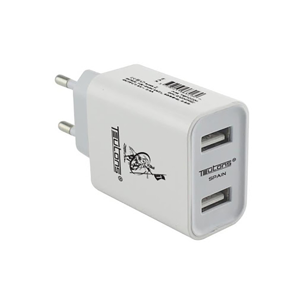 Teutons Wall Adapter With Micro Usb Data Cable Quick Charge 3.0 - White