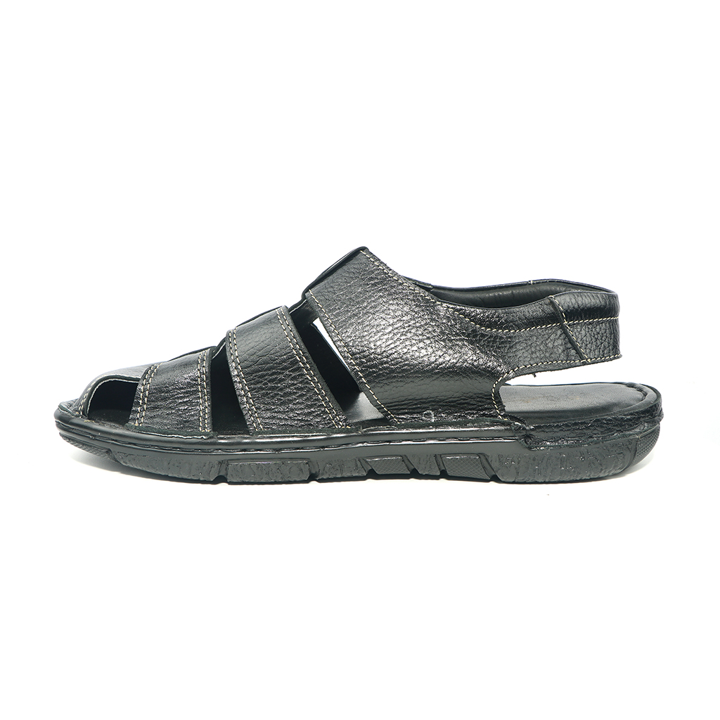 Pu Upper Lining Fiber Men Belt Sandal (uf-37)