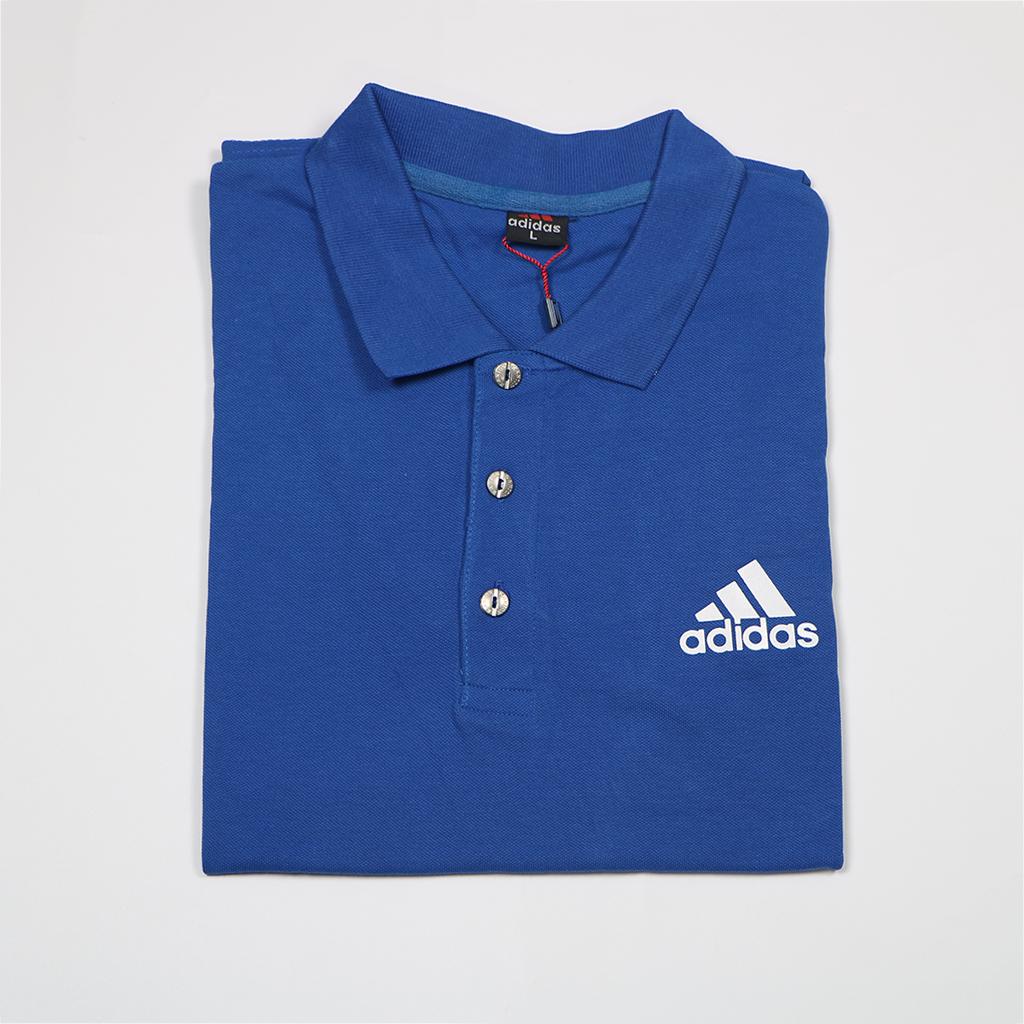Adidas Pique Fabric Mens Regular Polo T Shirt (blue)