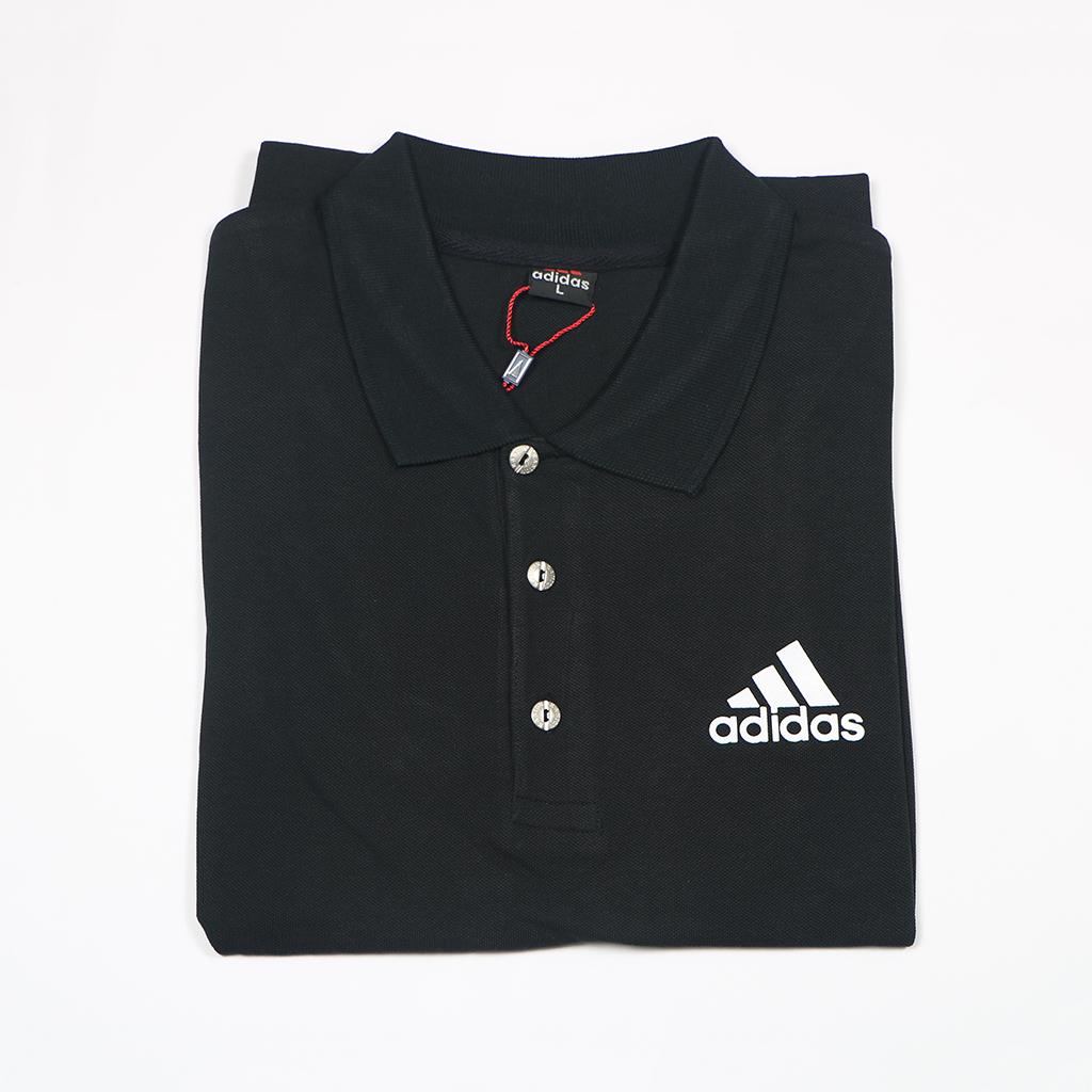 Adidas Pique Fabric Mens Regular Polo T Shirt (black)