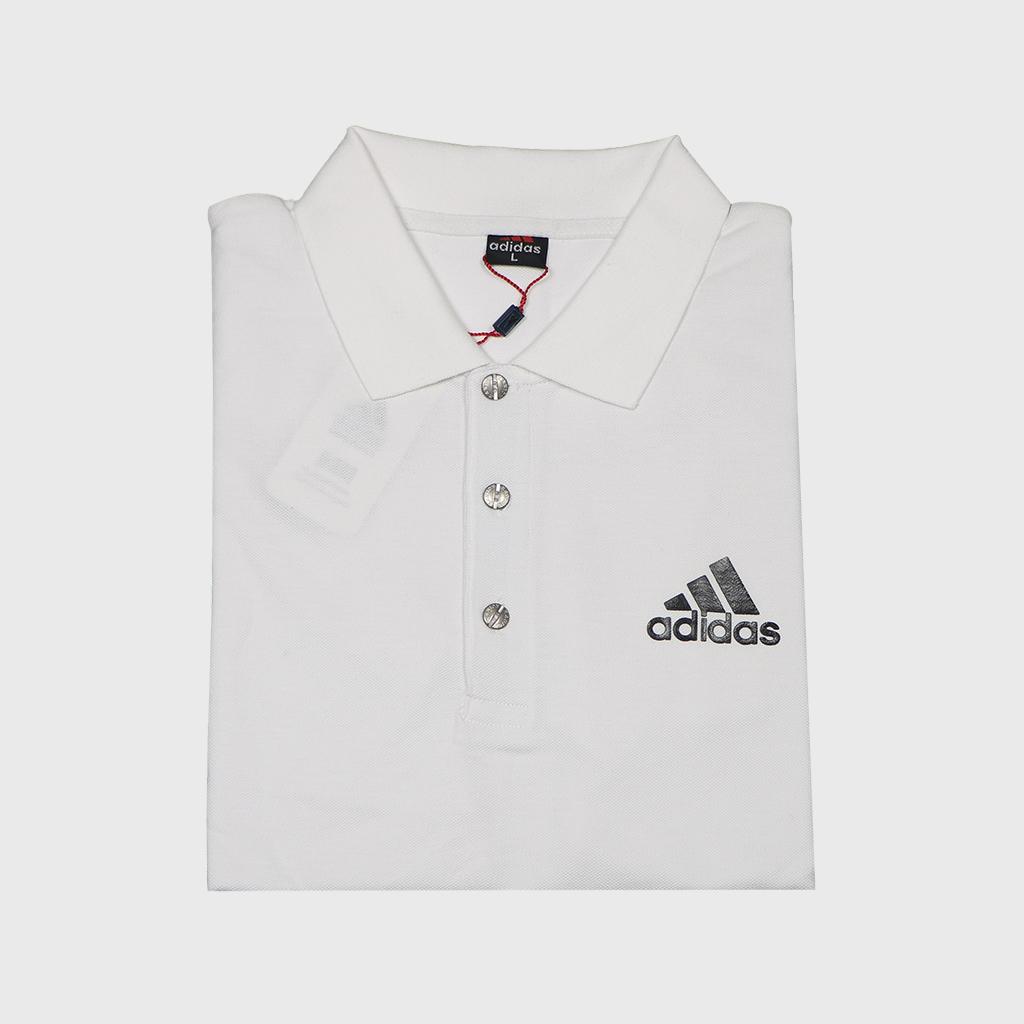 Adidas Pique Fabric Mens Regular Polo T Shirt (white)