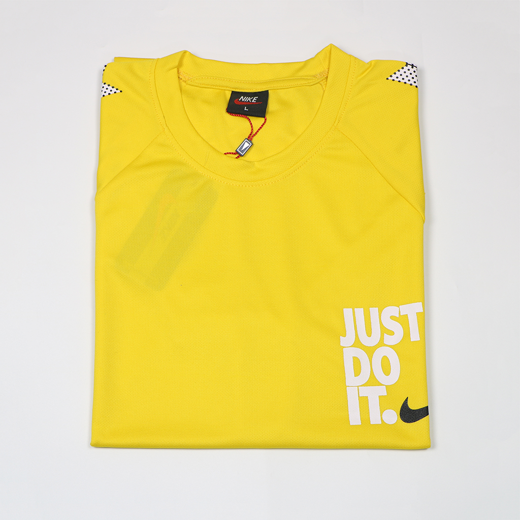 Just Do It Casual Jersey T Shirt (yellow)