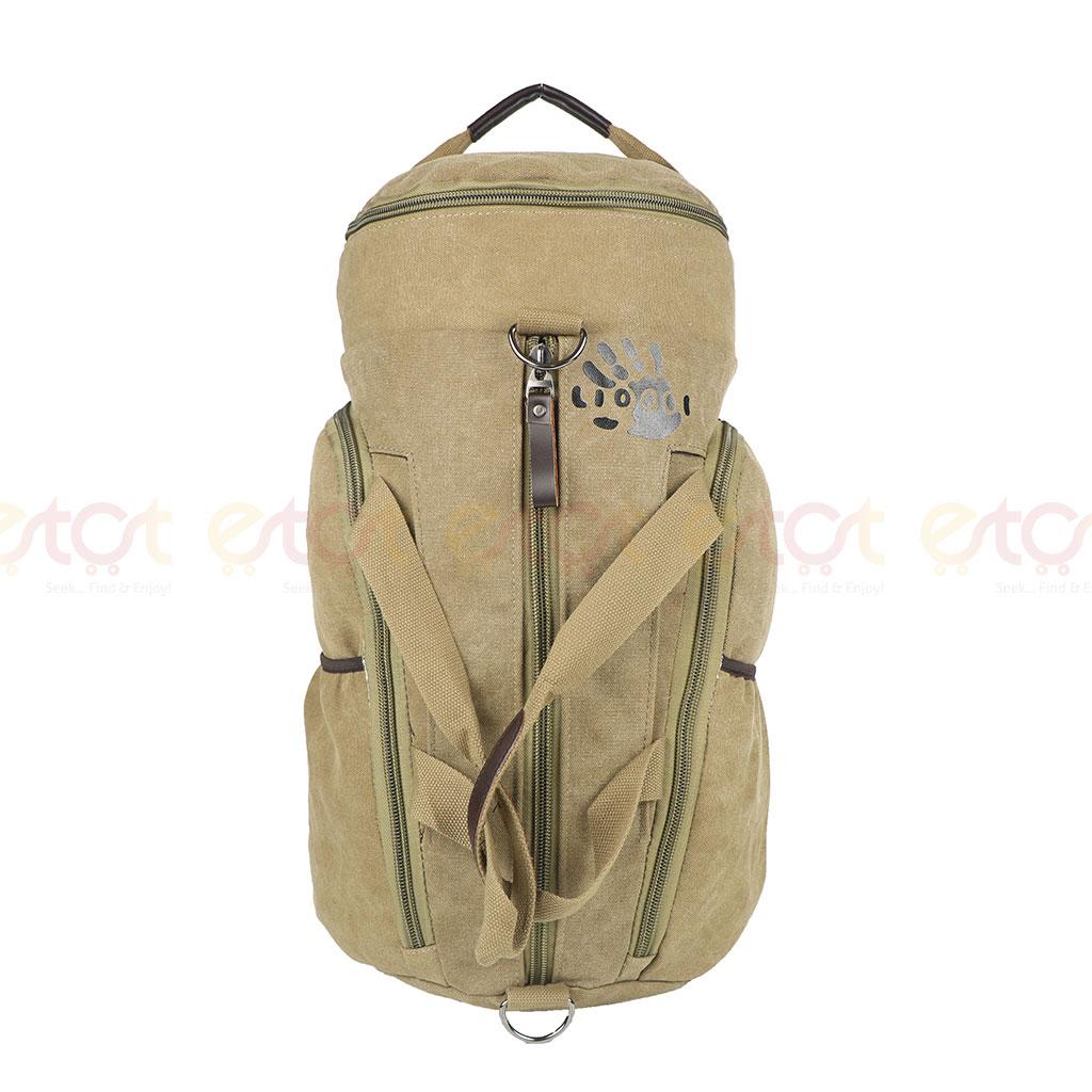 Qiling Time 745 35l Premium Quality Stylish Shoulder Travel Duffle Hiking Mounterian Sports Bag (khaki)