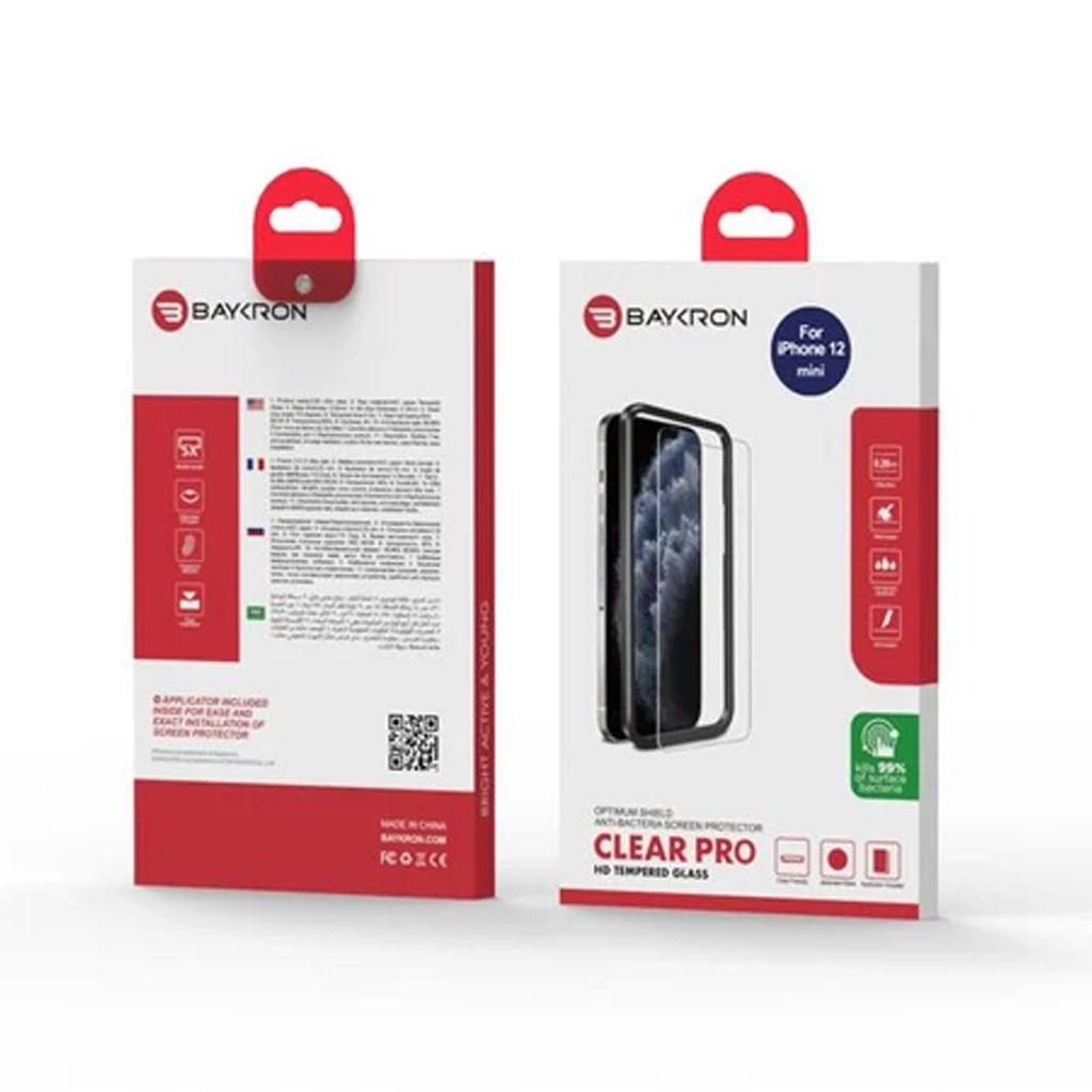 Baykron 20-004999 Iphone 12 Mini Antibacterial Clear Hd Tempered Glass