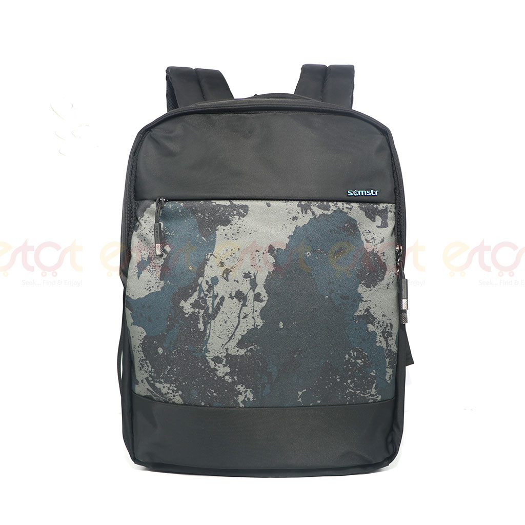 Scmstr Premium Quality Stylish Professional School College Laptop And Travel Backpack Black (81729)