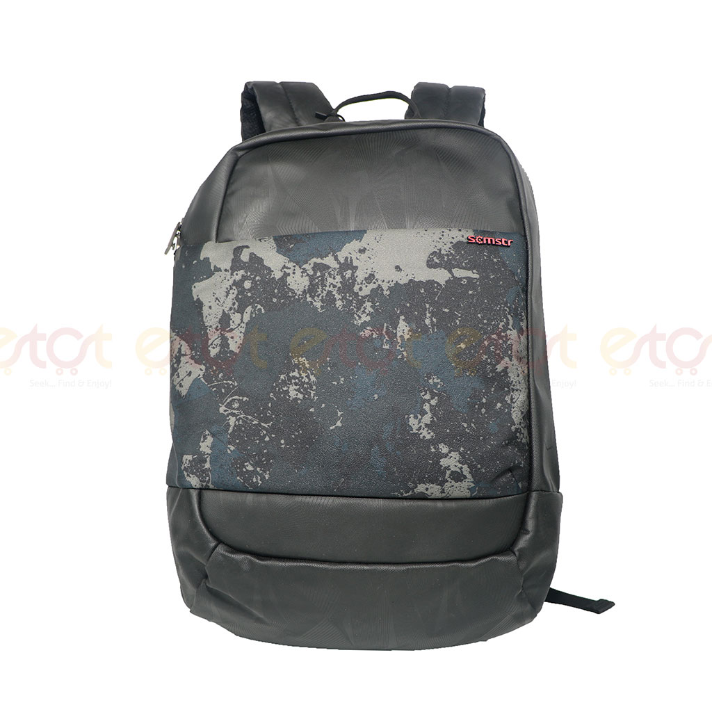 Scmstr 81728 Premium Quality Stylish Professional School College Laptop And Travel Backpack (black)