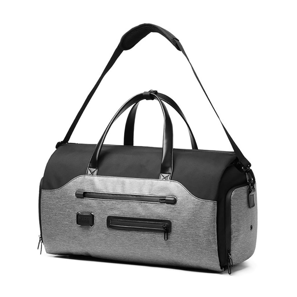Ozuko 9288 Multifunction Large Capacity Casual European And American Stylish Professional Outdoor Waterproof Travel & Duffle Bags (grey)