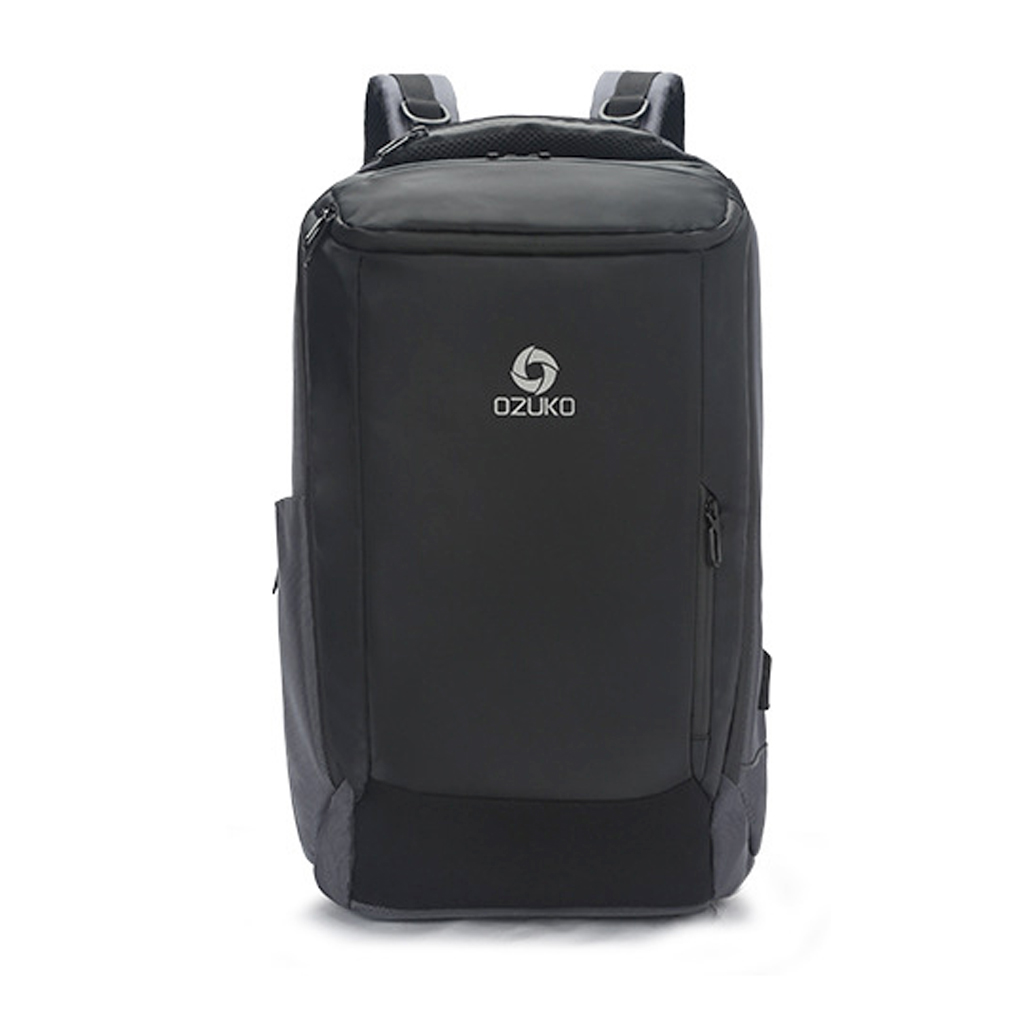 Ozuko 9060s New Fashion And Stylish Professional Outdoor Waterproof Usb Shoulder Laptop Backpack (gray)