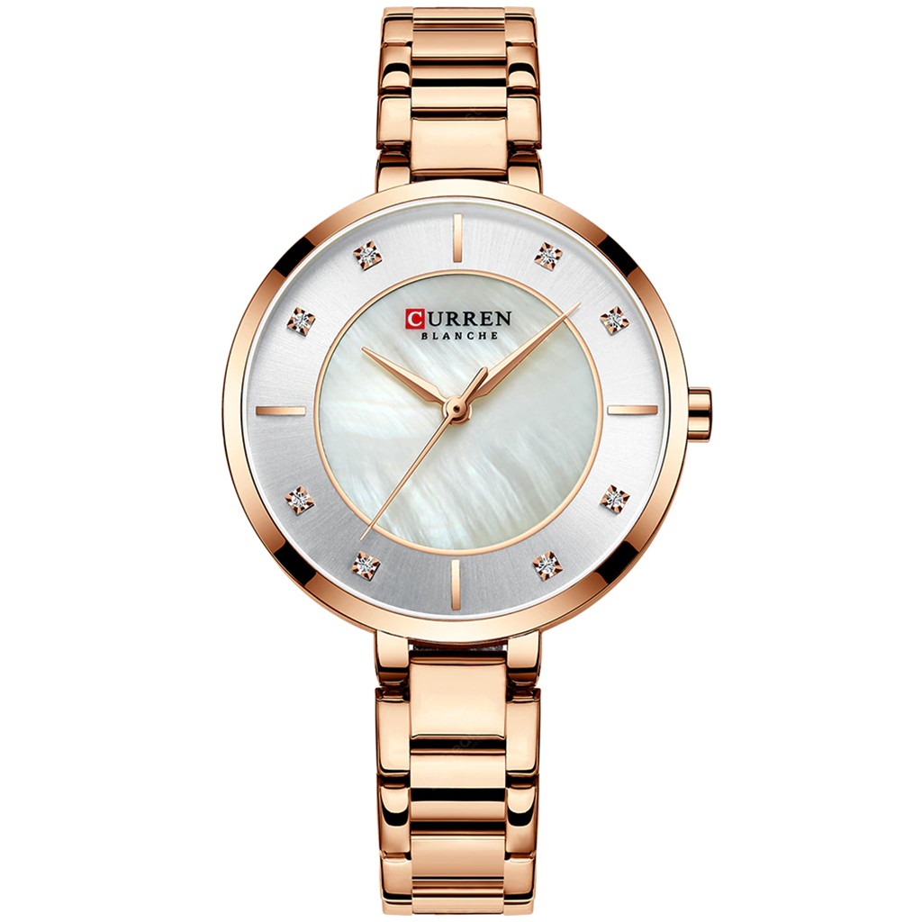 Curren 9051gw Quartz Watch For Women