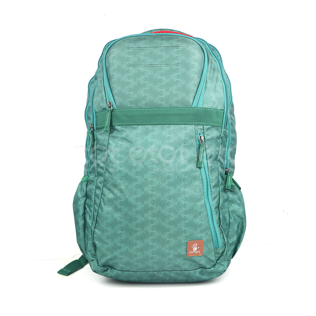Espiral 202001 Nylon Fabric And Super Light Weight Water Resistant & Washable School Collage & Traveling Backpack Bag (green Aop)